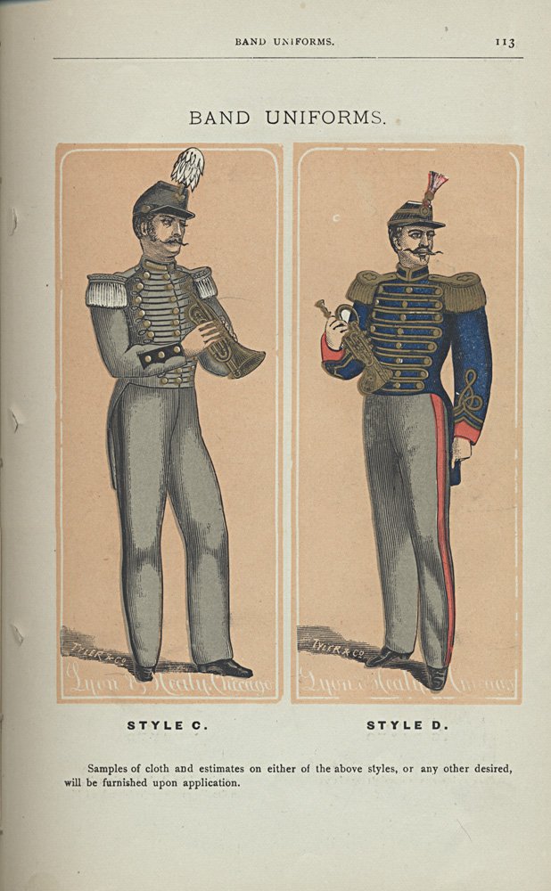 Band Uniforms, Style C and Style D,  Image number:SIL-038-57-05