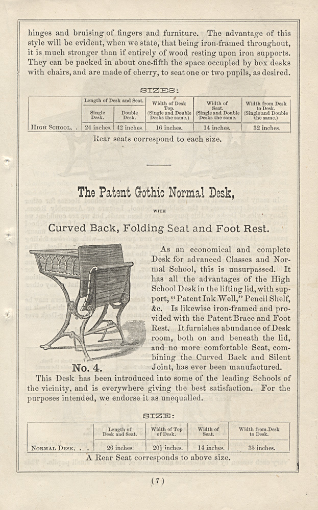 Patent Gothic Normal Desk,  Image number:SIL-038-62-09