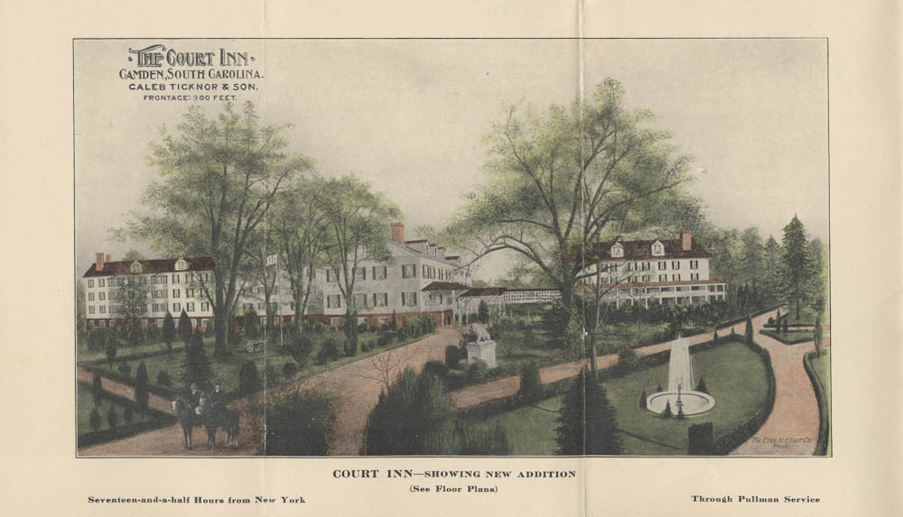 Court Inn Camden Sc Brochure 1906 The