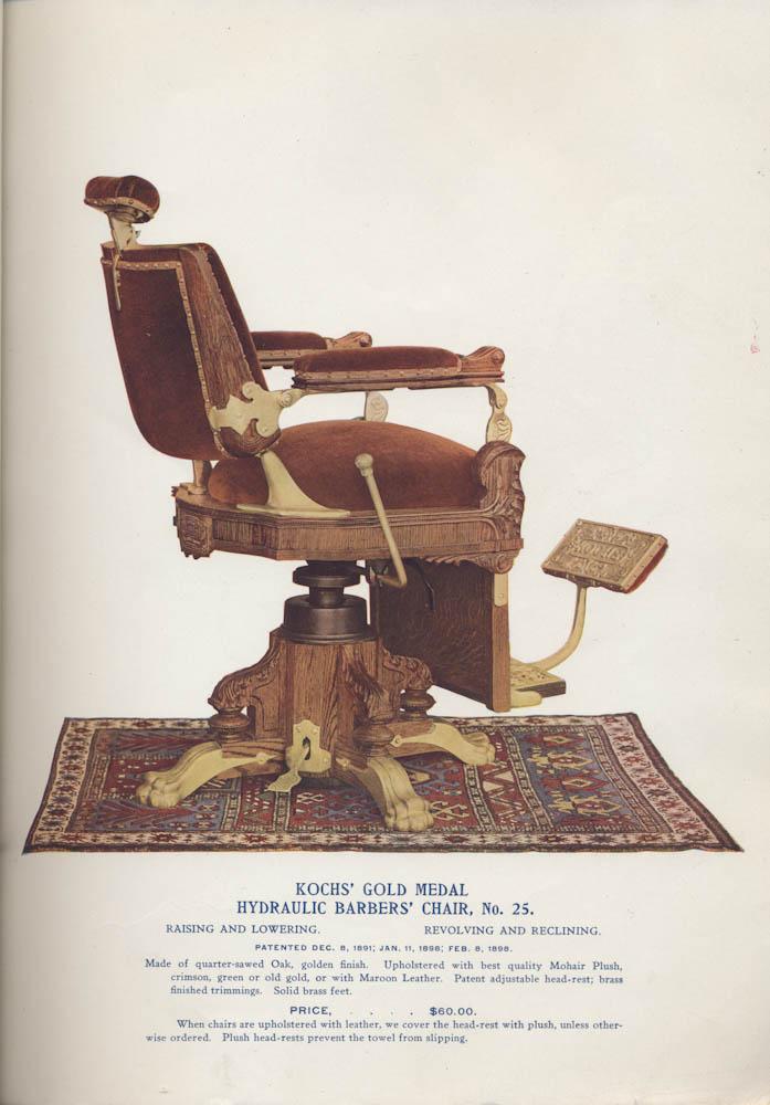 Kochsu0027 Gold Medal Hydraulic Barbersu0027 Chair, No. 25