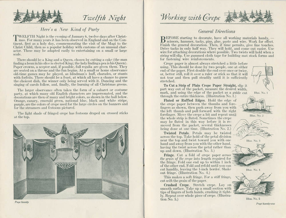 Twelfth Night decorations ; general directions for working with crepe paper,  Image number:SIL-038-74-12