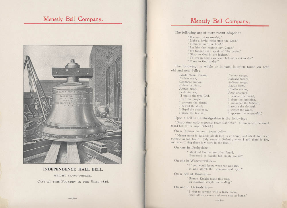 Meneely Bell Co. 1876 Centennial Bell and a history of bells