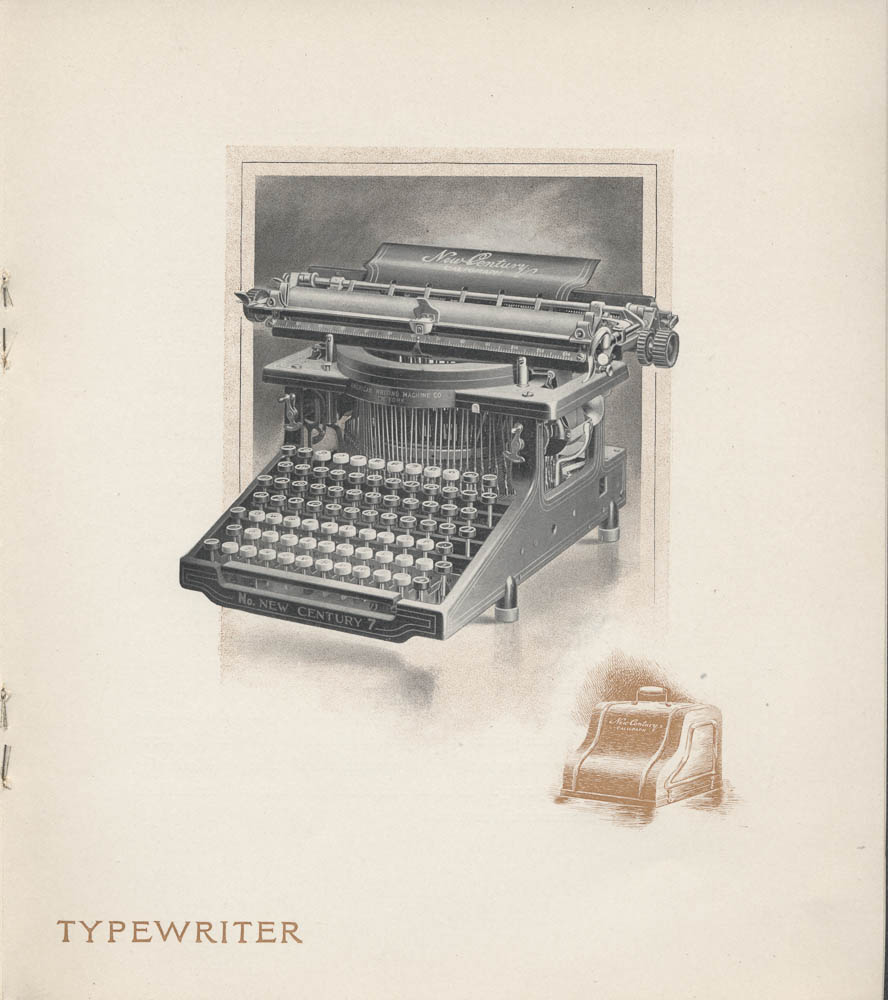 New Century Caligraph No. 7 (typewriter),  Image number:SIL-038-78-13