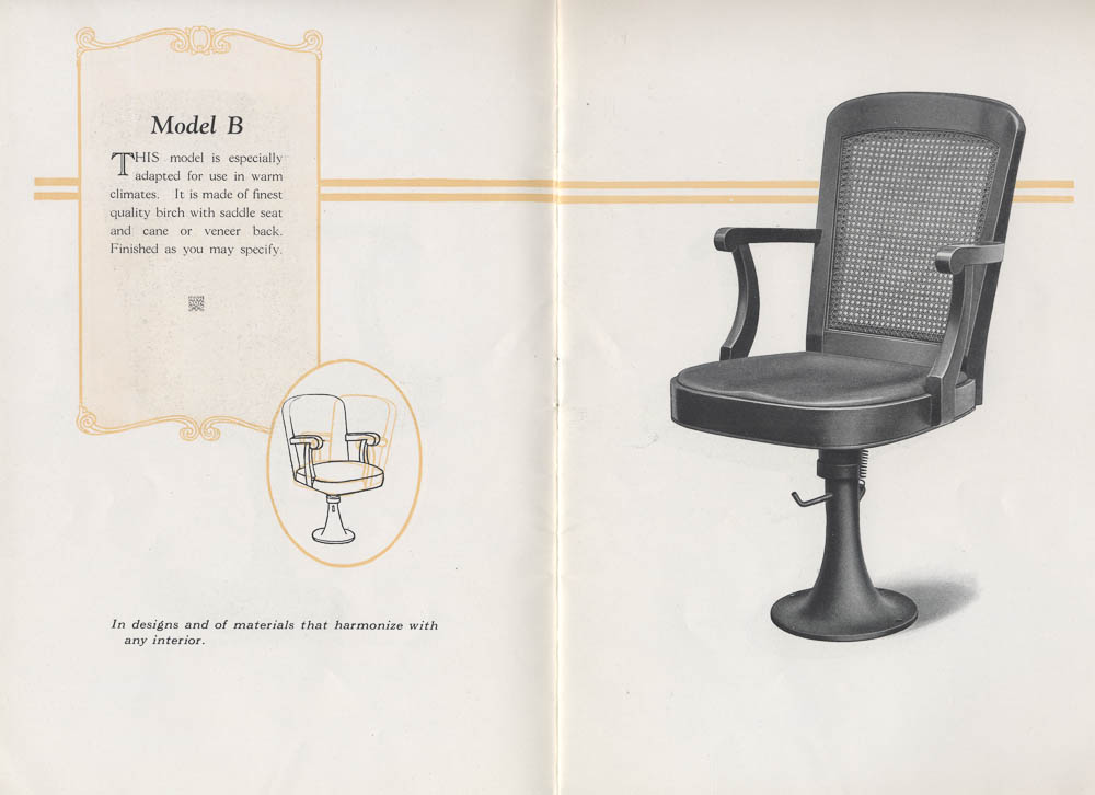 Model B Mov-Ezy theatre chair,  Image number:SIL-038-80-05