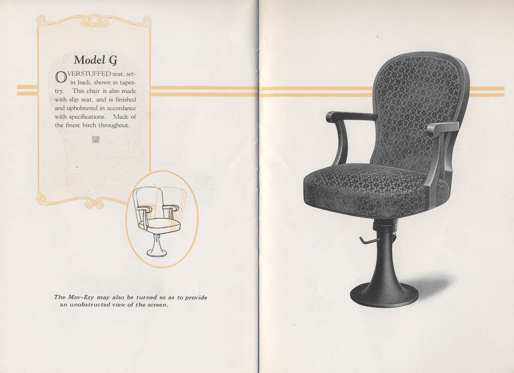 Model G Mov-Ezy theatre chair