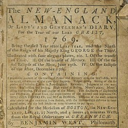 New-England almanack … for the year of our Lord Christ, 1769
