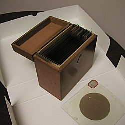 Glass-plate negative boxes used during the 1882 transit of Venus expeditions by the U.S. Naval Observatory