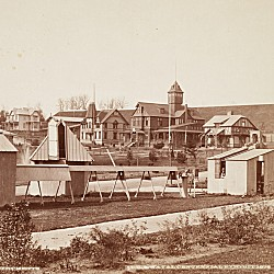 Observation station at the 1876 Centennial Exposition