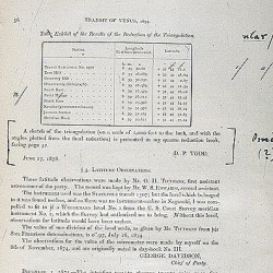 Observations of the transit of Venus…, part II, sections 1-4 [page proofs]