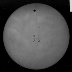 Glass-plate negative photographs of the 1882 transit of Venus taken by one of the U.S. Naval Observatory expeditions