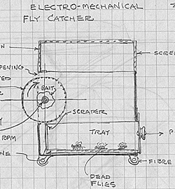Electro-mechanical fly catcher