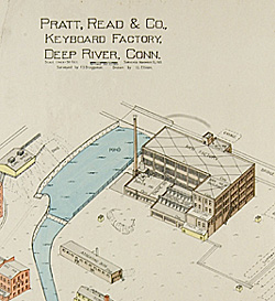Fire insurance map for Pratt, Read & Company keyboard factory