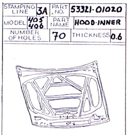 Reference notebook of quality inspector, about 1989