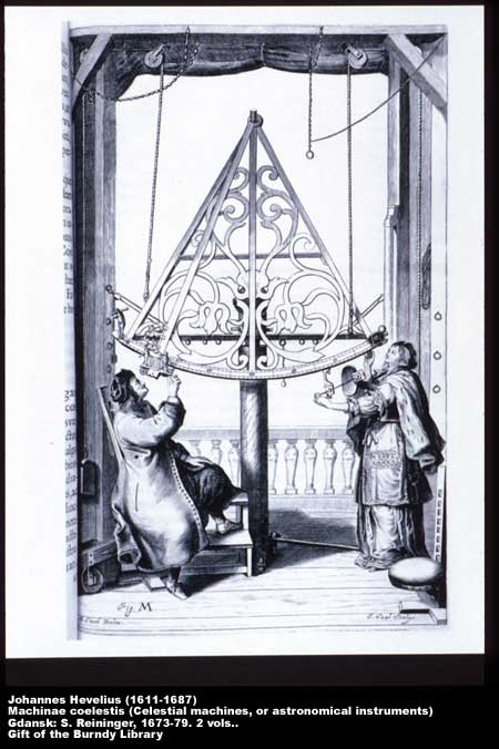 Hevelius and his wife jointly using a quadrant,  Image number:2-24-Hevelius