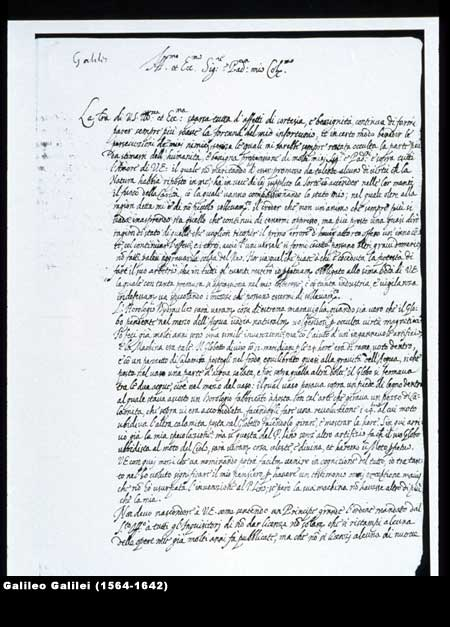 Signed letter from Galileo to French astronomer Nicolas Peirsec, May 12, 1635,  Image number:4-30-galileo