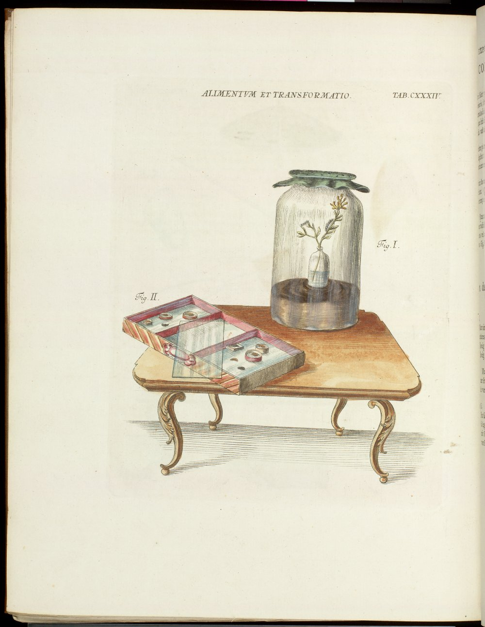 Tab. CXXXIV : Jar & drawer on table,  Image number:SIL21-03-003