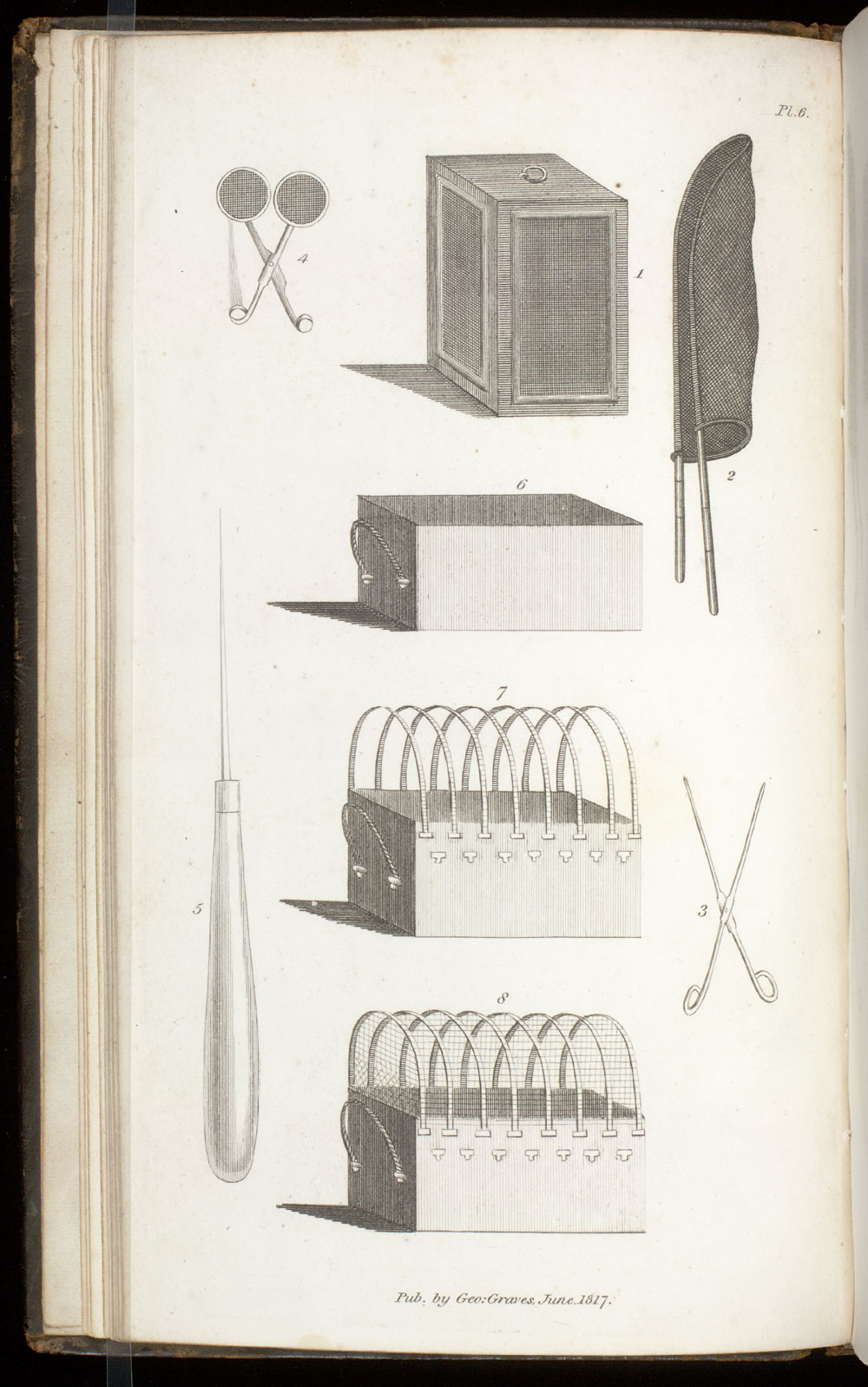 Pl. 6 : equipment & cases ; Insect collecting equipment,  Image number:SIL21-09-001