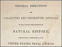 General directions for collecting and preserving articles in the various departments of natural history �