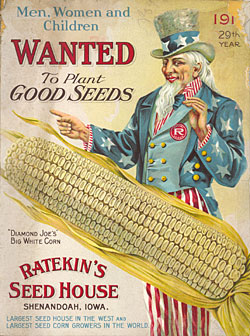 Cover from a seed catalogue in the National Museum of American History Library