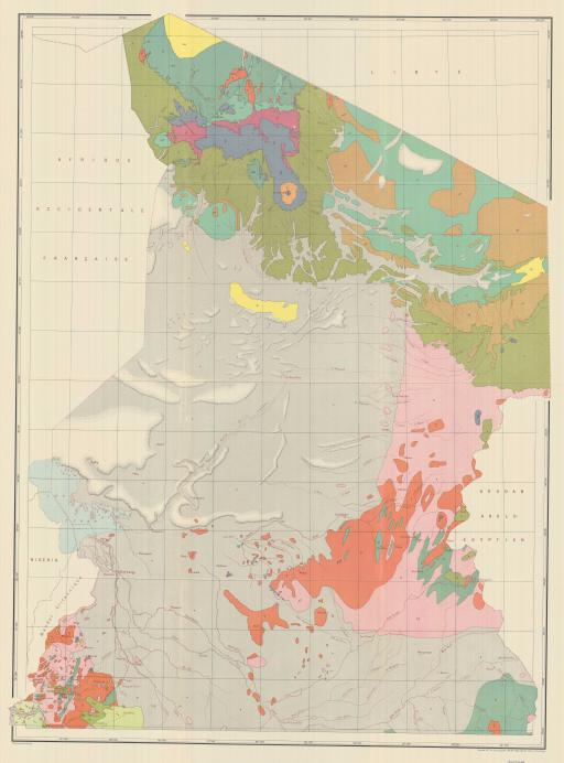 Map of N: French Equatorial Africa & Cameroon, Geol Map