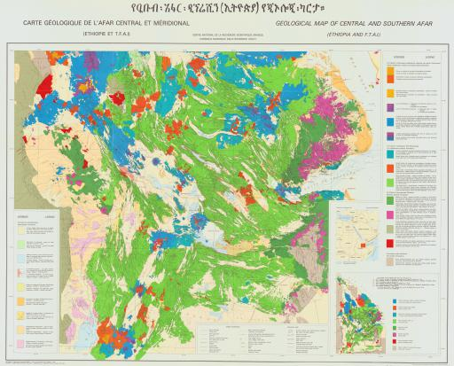 Map of Central & S Afar, Geol Map (Ethiopia & FTAI)