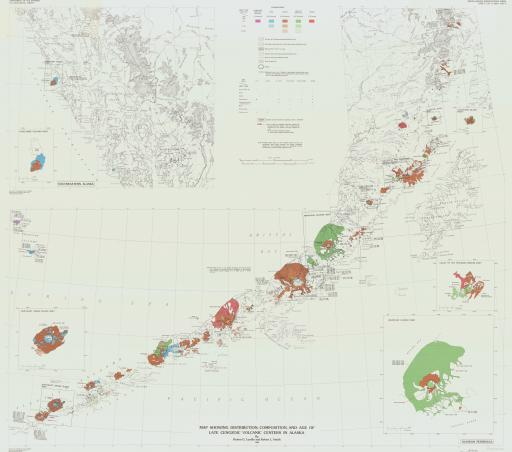Map of Map Showing Distribution, Composition, and Age of Late Cenozoic Volcanic Craters in Alaska