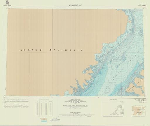 Map of Mt Katmai, Shelikof Strait