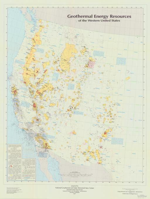 Map of Geothermal Energy Resources of the Western United States