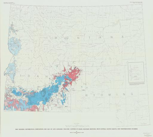 Map of 1:ID MT SD WY-Map of Dist/Comp/Age CZ Volc Center