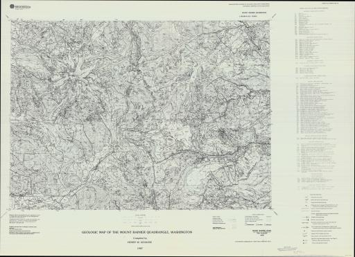 Map of Mt Rainier, Geol Map of