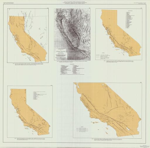 Map of Faults & Geomorphic Maps of CA/ NV