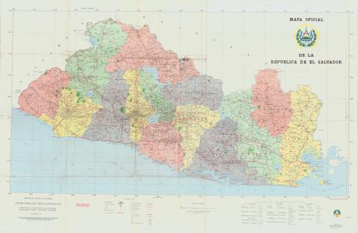 Map of Mapa Oficial de La Republica de El Salvador