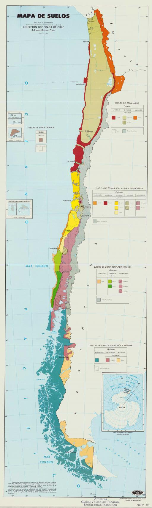 Map of Mapa de Suelos/ Map of Soils