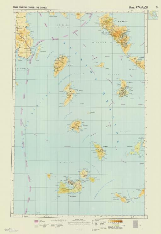 Map of Cyclades Islands-a