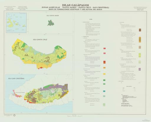 Map of Formaciones Vegetales, Uso del Suelo...