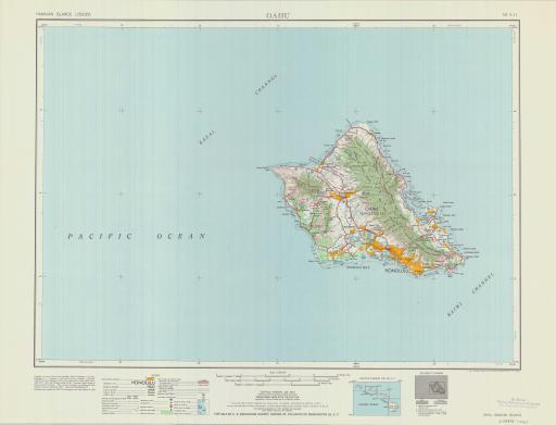 Map of Oahu