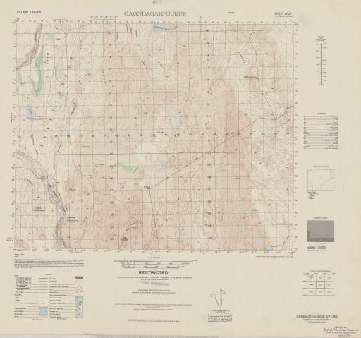 Map of Gagndagahnjukur (Nordhur-Thingeyjarsysla)