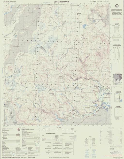 Map of Geirlandshraun