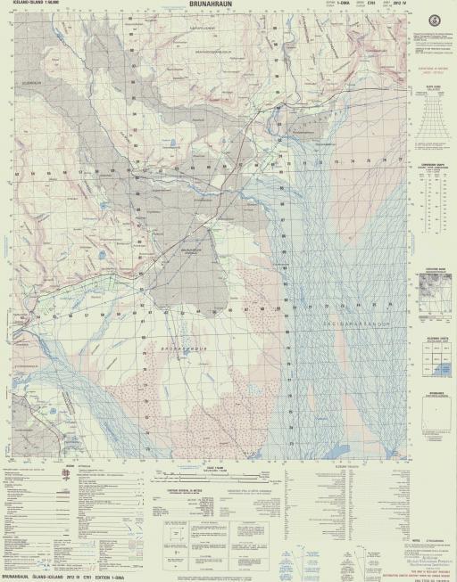 Map of Brunahraun