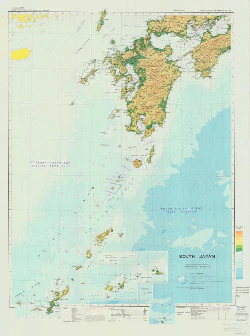 Map of South Japan