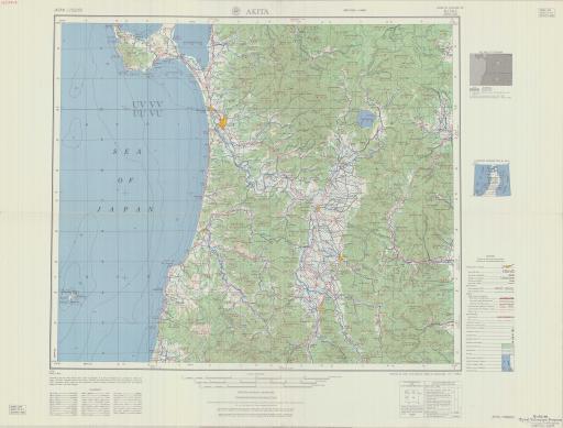 Map of Akita