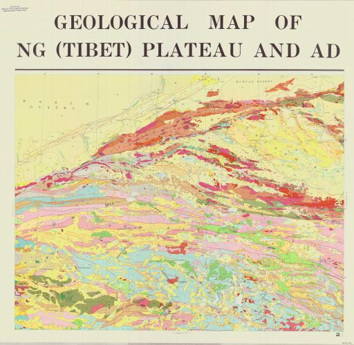 Map of (2) Geol Map of Qinghai-Xizang Plateau & Adj Areas