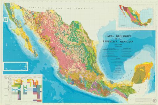 Map of Carta Geolica de la Republica Mexicana