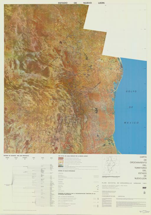 Map of Estado de  Nuevo Leon