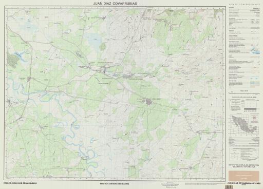 Map of Juan Diaz Covarrubias