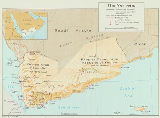 Map of Yemens