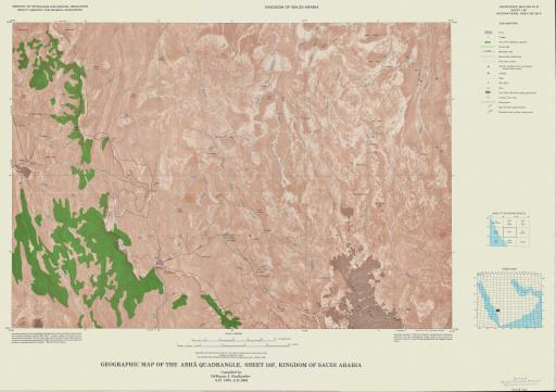 Map of Geogr Map of the Abha Quad, Sheet 18F, Saudi Arabia