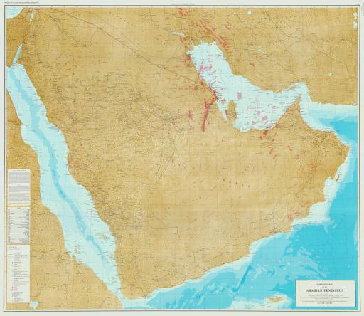 Map of Geographic Map of the Arabian Peninsula