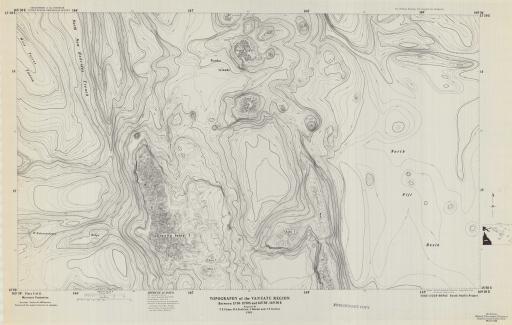 Map of Vanuatu Region, Topo, 13 50-15 50 S, 165 30-169E