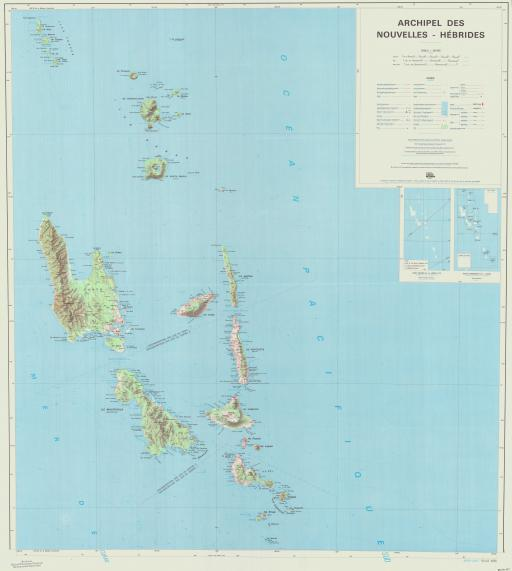 Map of (N) Nouvelles-Hebrides, Archipel des,